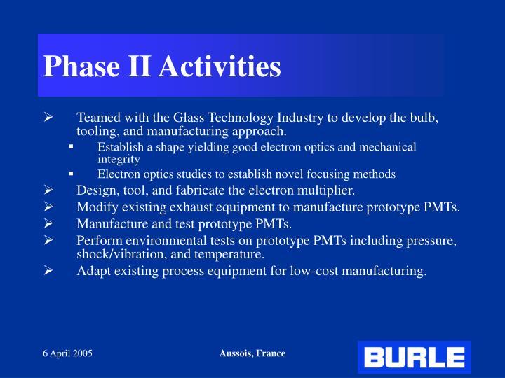 Phase II Activities