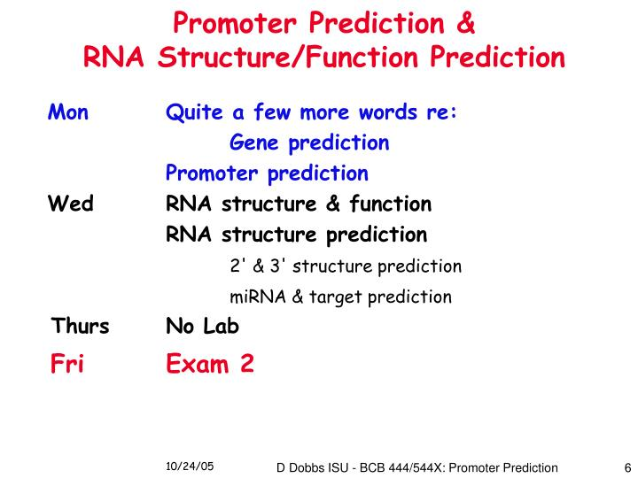 Promoter Prediction &