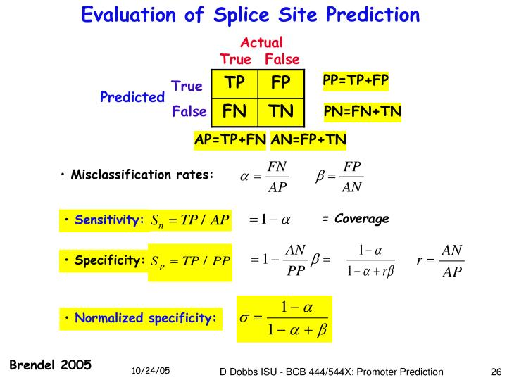 Evaluation of Splice Site Prediction