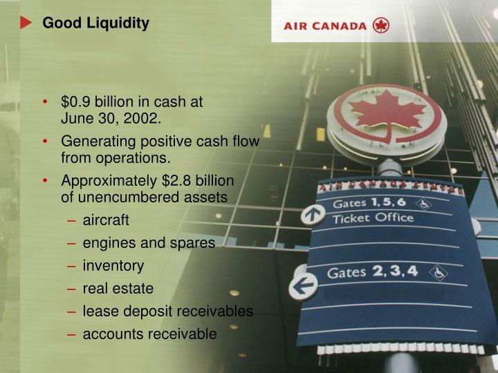 Good Liquidity
