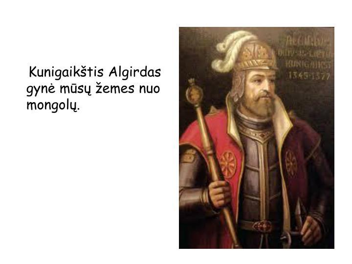 Kunigaikštis Algirdas gynė mūsų žemes nuo  mongolų.