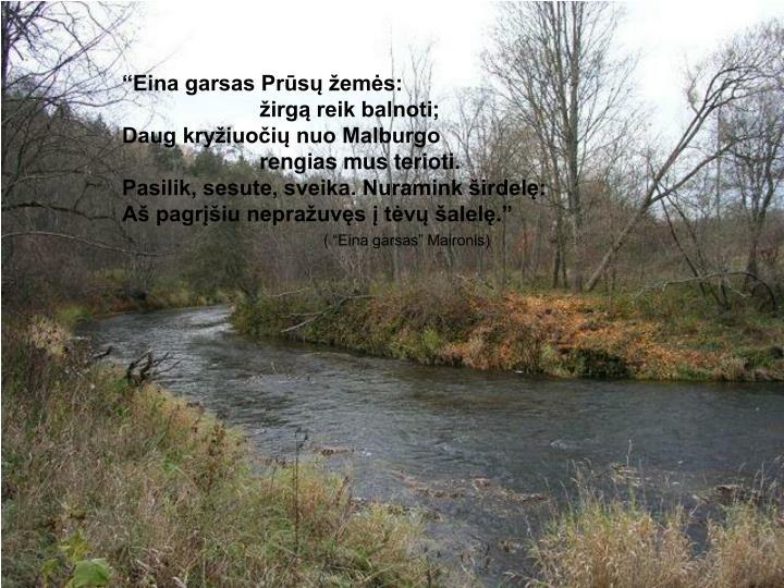 """""""Eina garsas Prūsų žemės:"""