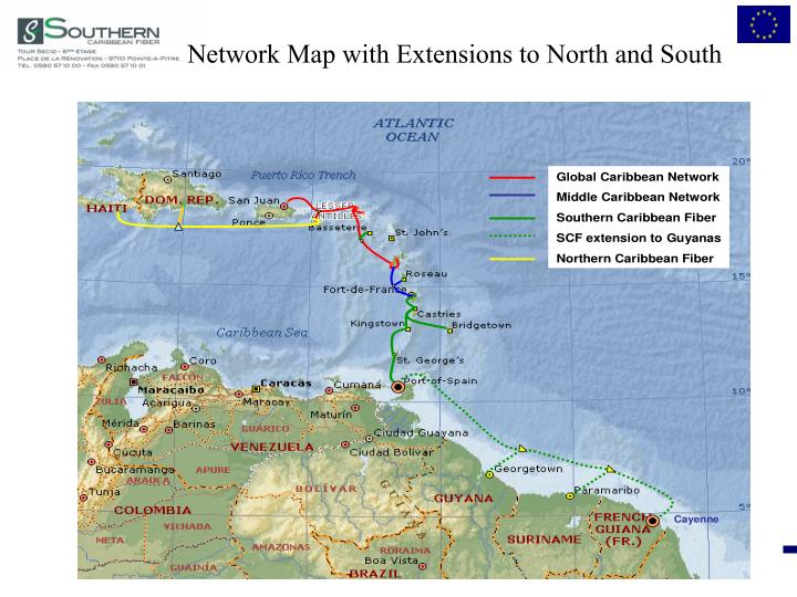 Network Map with Extensions to North and South
