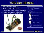 cots dust rf motes