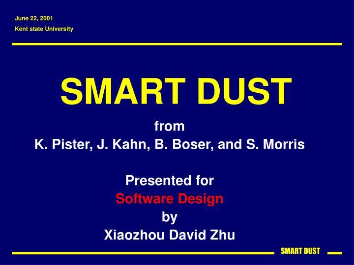 smart dust n.