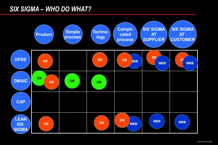 SIX SIGMA – WHO DO WHAT?