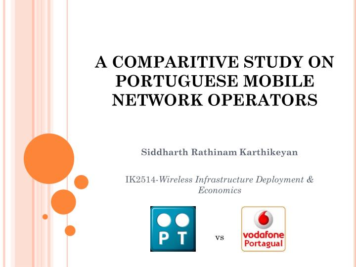 a comparitive study on portuguese mobile network operators n.
