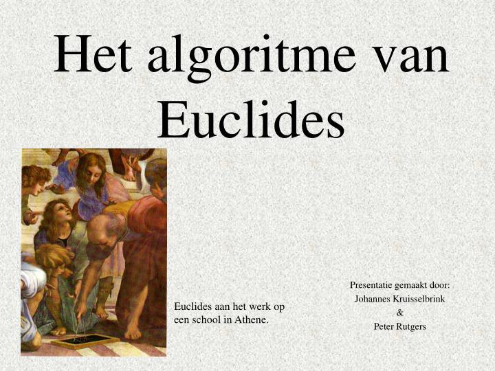 Het algoritme van euclides