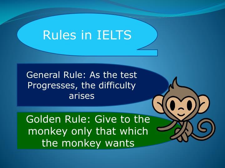 Rules in IELTS