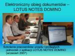 elektroniczny obieg dokument w lotus notes domino
