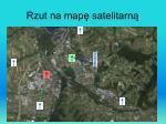 rzut na map satelitarn
