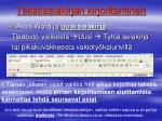 tekstiasiakirjan kirjoittaminen