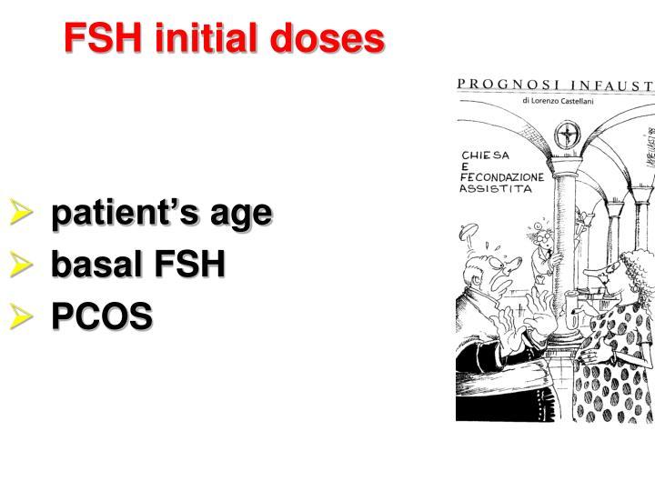 FSH initial doses