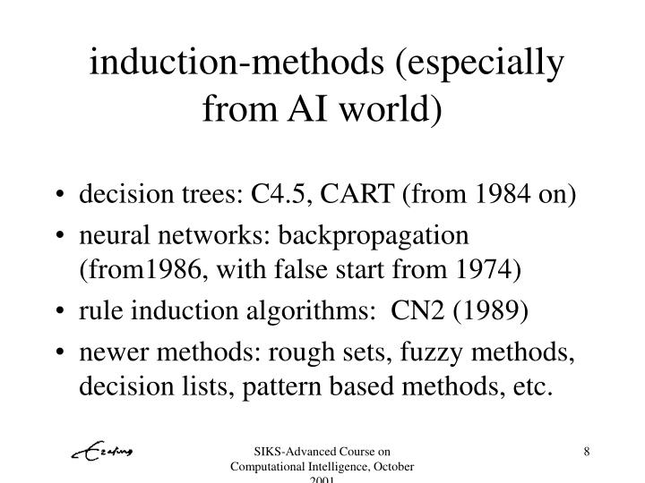 induction-methods (especially from AI world)