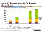 lyondell s earnings capability far exceeds recent results