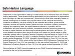 safe harbor language