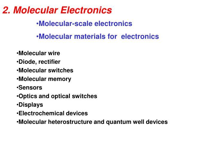 2 molecular electronics n.