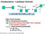 conductance landauer formula