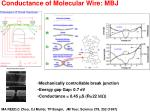 conductance of molecular wire mbj