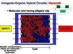 inroganic organic hybrid circuits nanocell