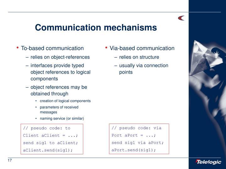 To-based communication