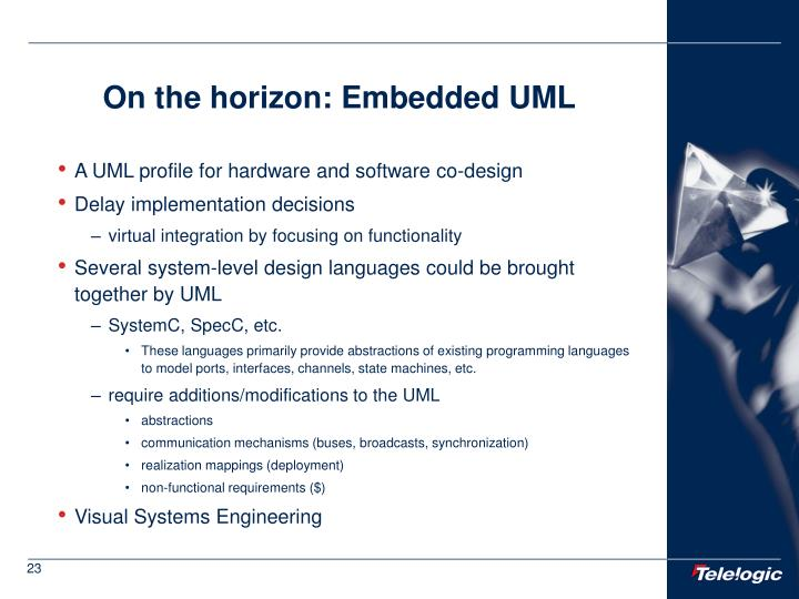On the horizon: Embedded UML