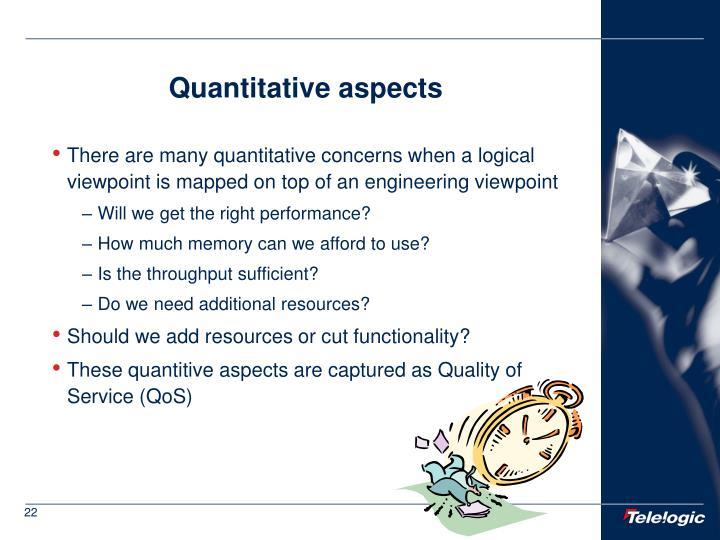 Quantitative aspects