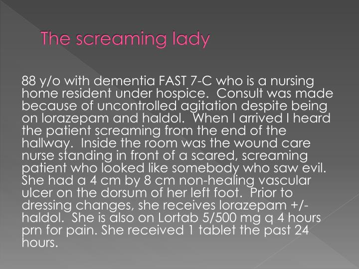 The screaming lady