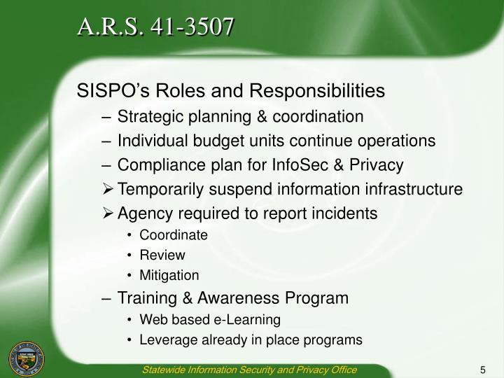 A.R.S. 41-3507