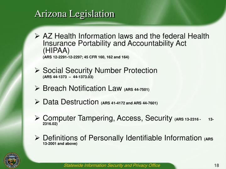 Arizona Legislation