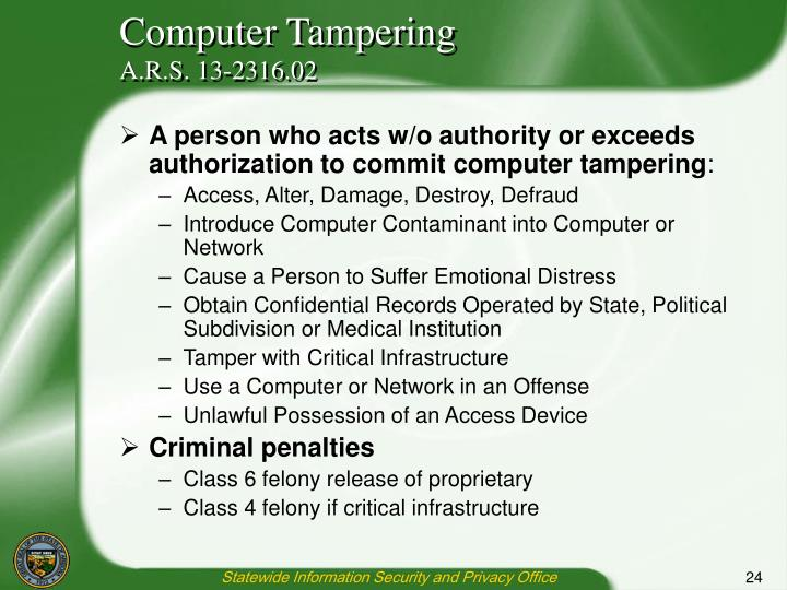 Computer Tampering