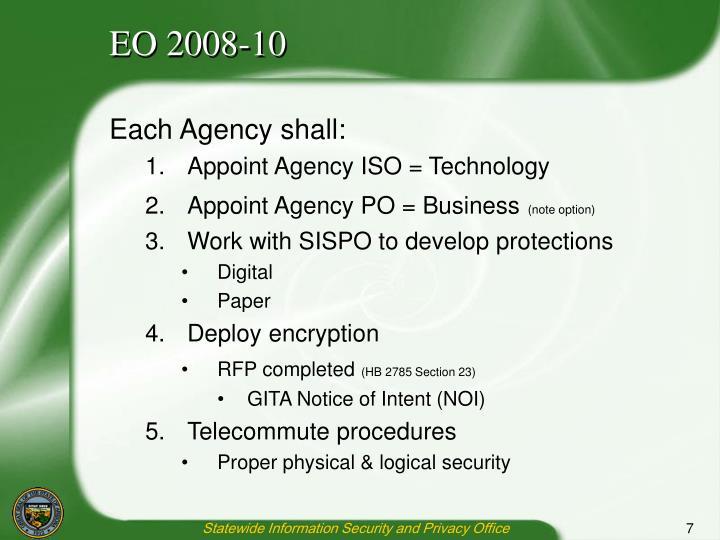 EO 2008-10