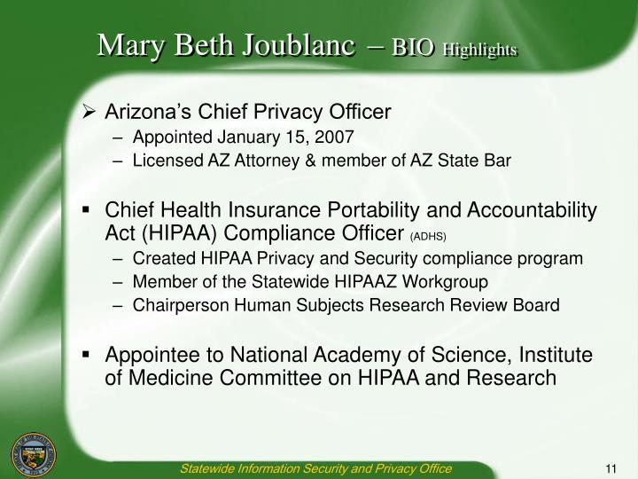 Mary Beth Joublanc