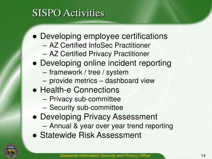SISPO Activities