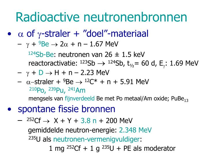 Radioactive neutronenbronnen
