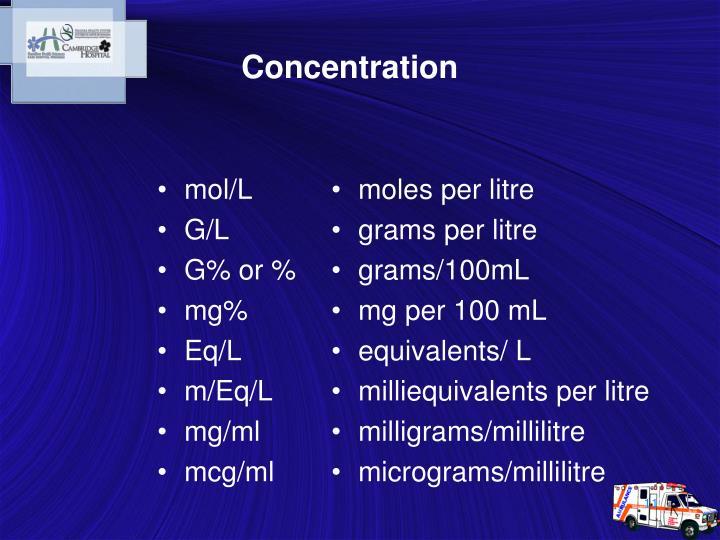 mol/L