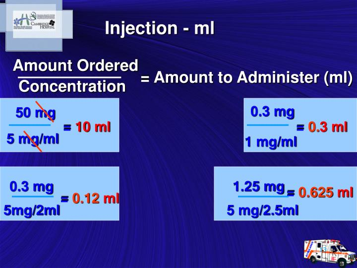 Injection - ml