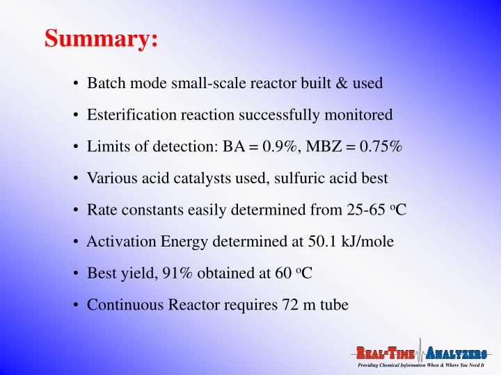 Batch mode small-scale reactor built & used