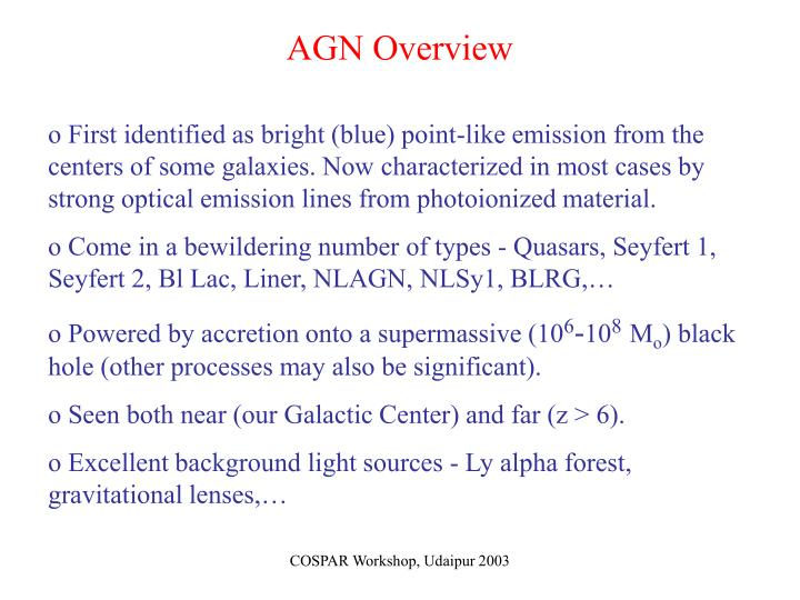 Agn overview