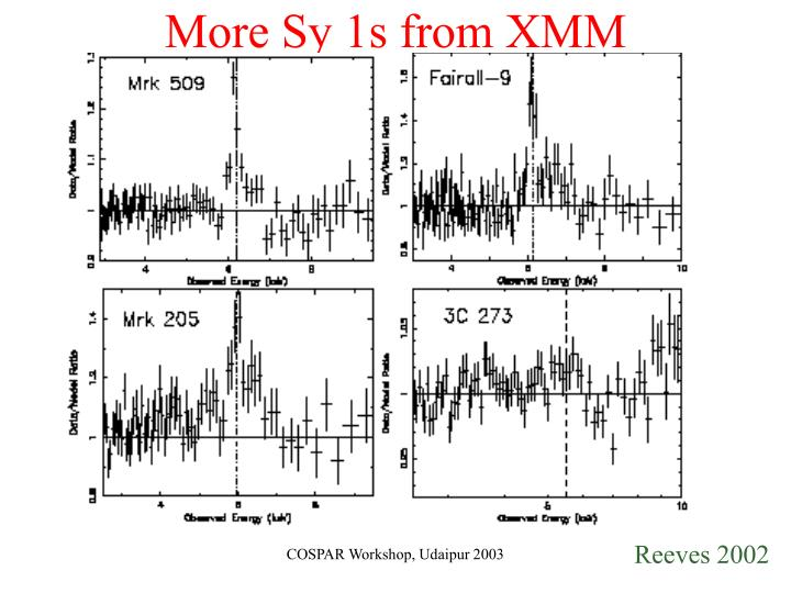 More Sy 1s from XMM