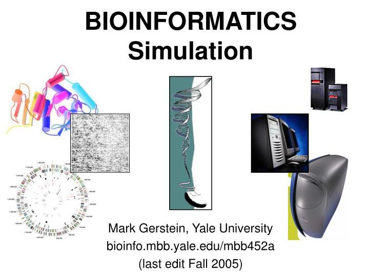 bioinformatics simulation n.