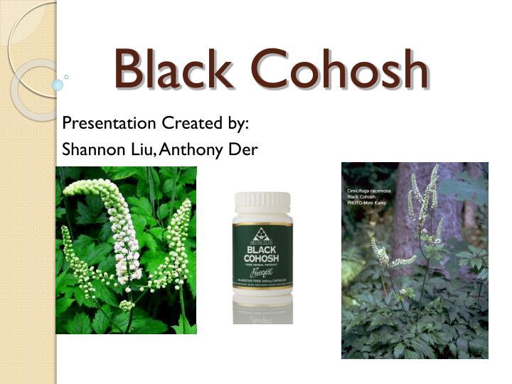 black cohosh n.