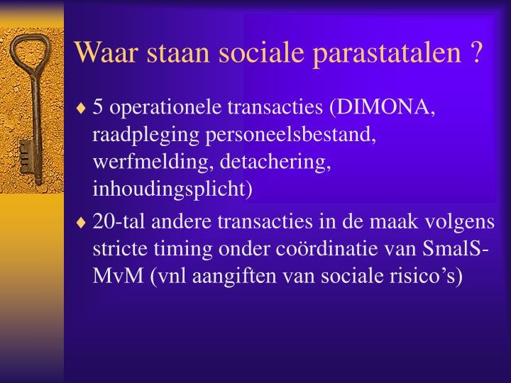 Waar staan sociale parastatalen ?