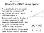 geometry of svd in row space