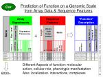 prediction of function on a genomic scale from array data sequence features