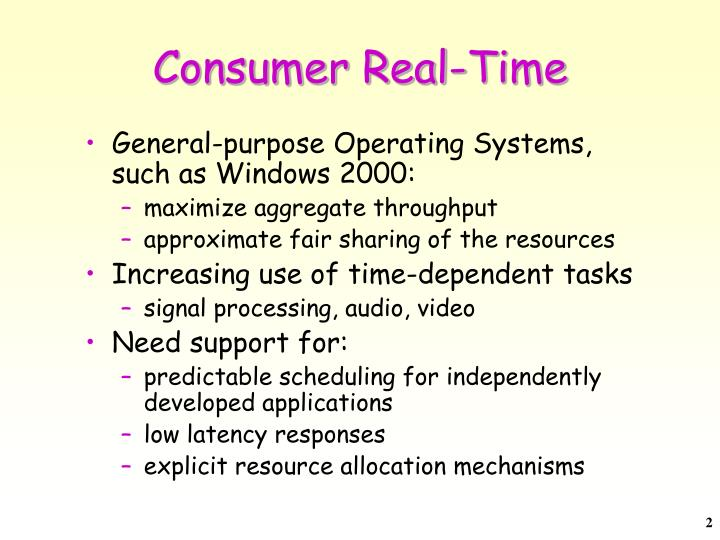 Consumer real time