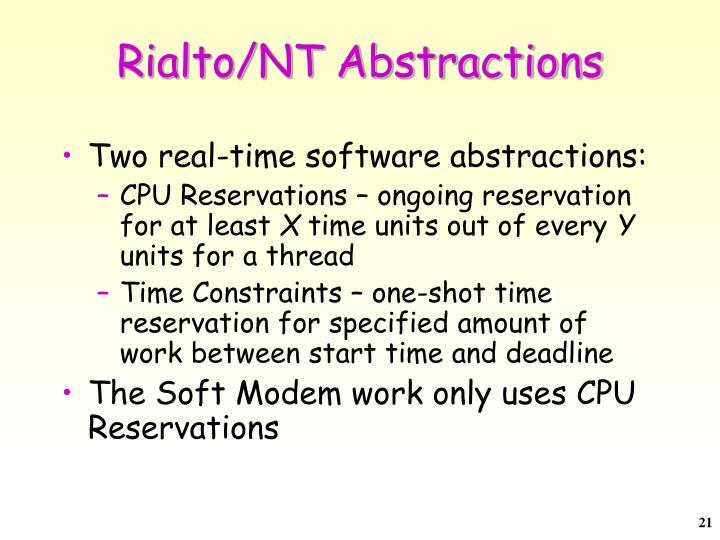 Rialto/NT Abstractions