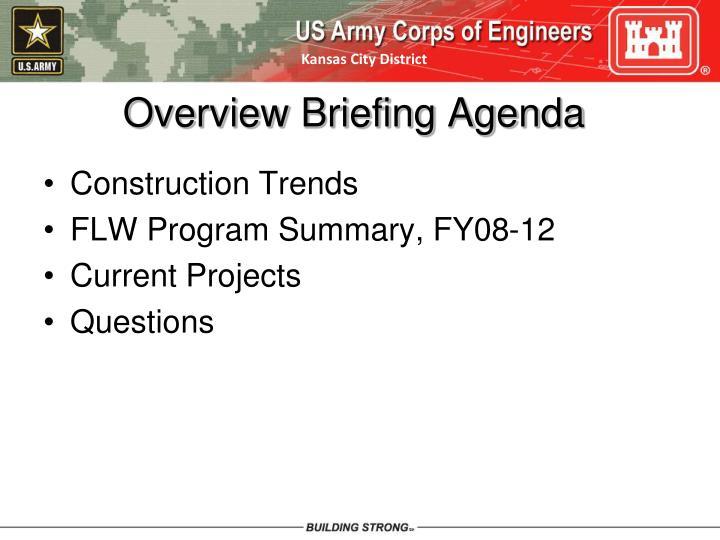 Overview briefing agenda