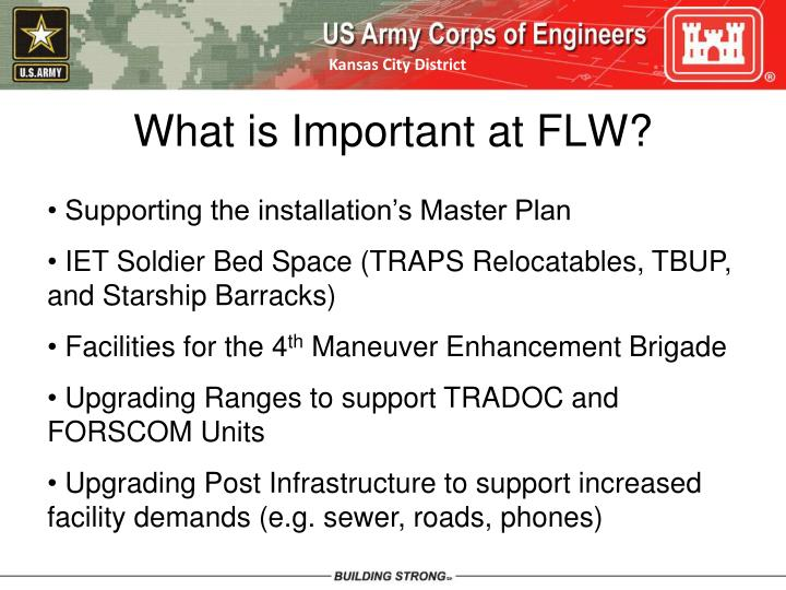 What is Important at FLW?