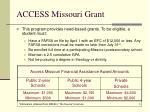 access missouri grant